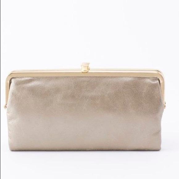 Hobo Bags Lauren Wallet In Cream With Gold Accent Poshmark